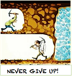 Snever give up