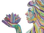 woman w/ lotus