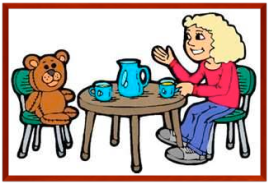 tea with bear