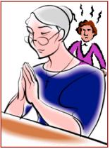 angry spiritual woman
