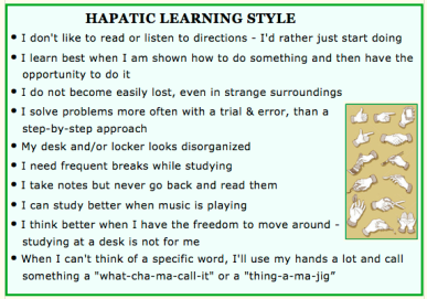 haptic learning