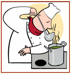 chef smelling soup